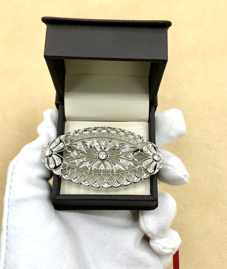 Women's Emilio Jewelry Diamond Brooch For Sale