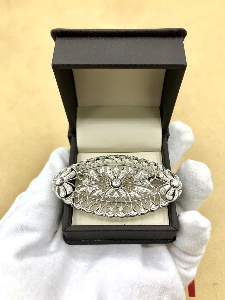 Emilio Jewelry Diamond Brooch For Sale 1