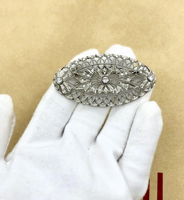 Emilio Jewelry Diamond Brooch For Sale 2