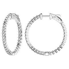 Emilio Jewelry Diamond Hoop Earrings