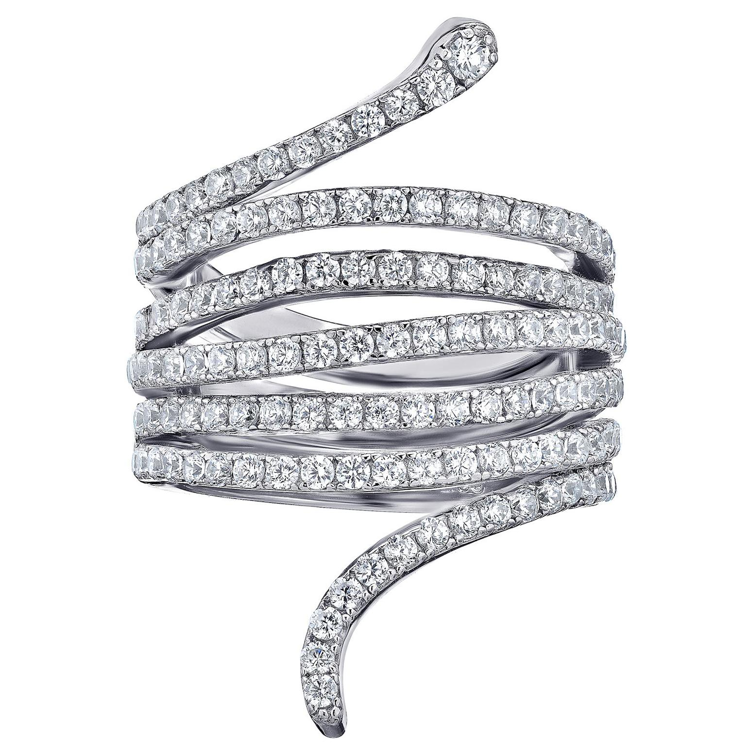 Emilio Jewelry Diamond Snake Ring
