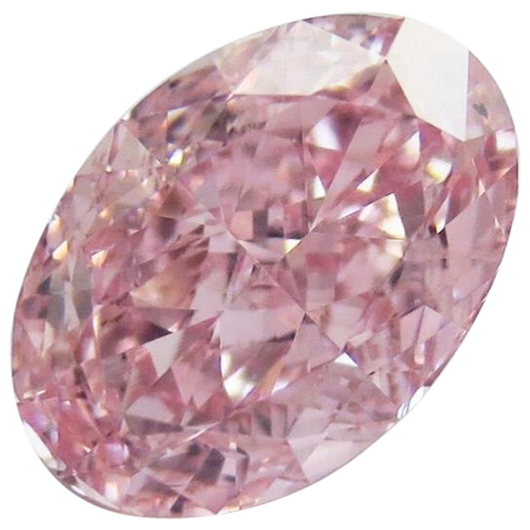 Emilio Jewelry GIA Certified 1.00 Carat Fancy Intense Pure Pink Diamond