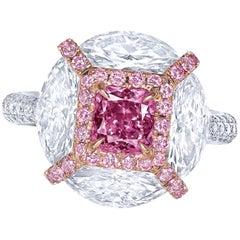 Emilio Jewelry GIA Certified 1.00 Carat Fancy Intense Purple Diamond