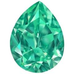 Emilio Jewelry GIA Certified 1.00 Carat Fancy Vivid Bluish Green Diamond