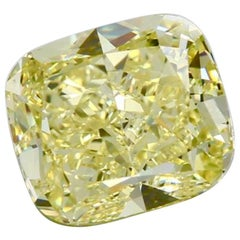 Emilio Jewelry GIA Certified 10.00 Carat Fancy Intense Yellow Diamond