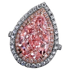 Emilio Jewelry GIA Certified 10.00 Carat Natural Fancy Pink Diamond Ring