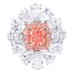 Emilio Jewelry GIA Certified 1.18 Carat Fancy Intense Pink Diamond Ring