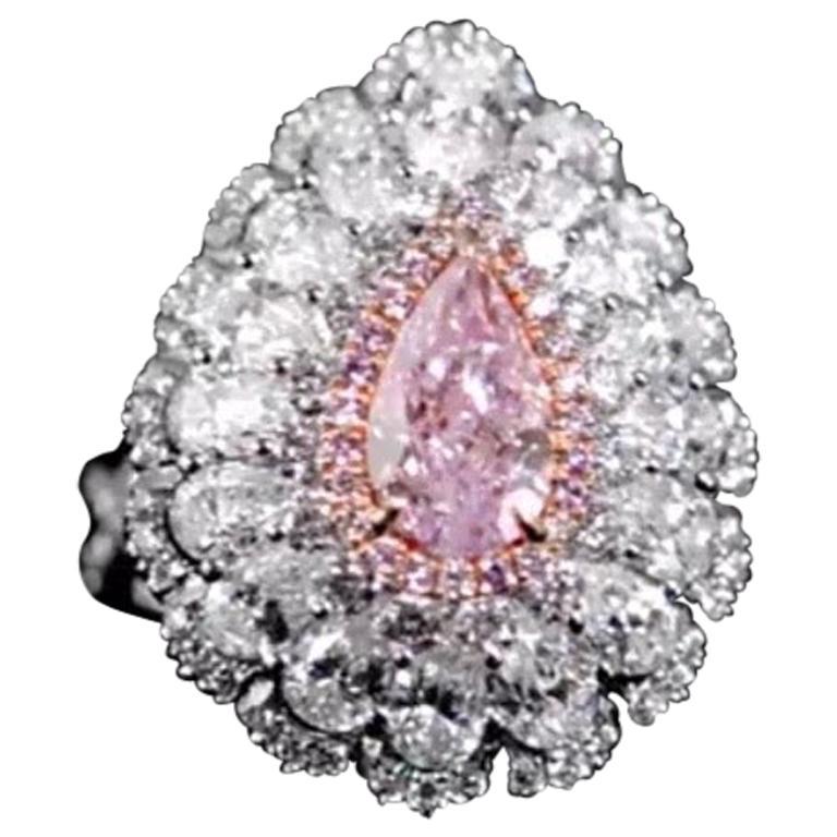 Emilio Jewelry GIA Certified 1.20 Carat Fancy Purple Diamond Ring