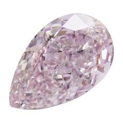 Emilio Jewelry GIA Certified 1.25 Carat Fancy Light Purplish Pink Diamond