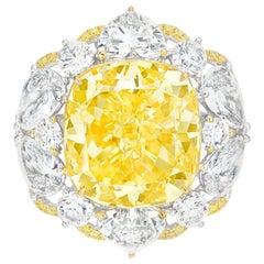 Emilio Jewelry GIA Certified 13.00 Carat Fancy Yellow Diamond Ring