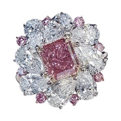 Emilio Jewelry GIA Certified 1.50 Carat Fancy Intense Pink Diamond Ring