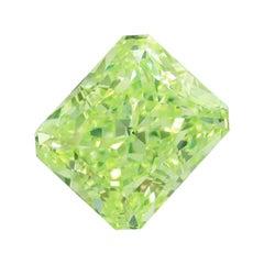 Emilio Jewelry GIA Certified 1.50 Carat Fancy Intense Pure Green Diamond