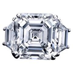 Emilio Jewelry GIA Certified 15.00 Carat Asscher Cut Diamond Ring