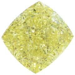 Emilio Jewelry GIA Certified 15.00 Fancy Yellow Diamond