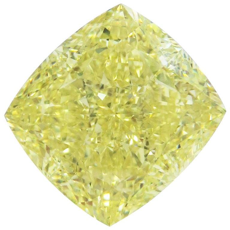 Emilio Jewelry GIA Certified 15.00 Fancy Yellow Diamond For Sale