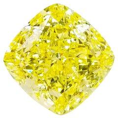 Emilio Jewelry GIA Certified 16.00 Carat Fancy Intense Yellow Diamond