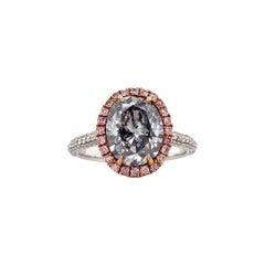 Emilio Jewelry GIA Certified 3.00 Carat Fancy Light Blue Diamond Ring