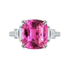 Emilio Jewelry Gia Certified 3.00 Carat Pink Sapphire Diamond Ring