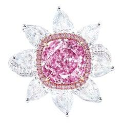 Emilio Jewelry GIA Certified 3.00 Carat Pure Light Pink Diamond