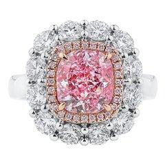 Emilio Jewelry GIA Certified 3.00 Carat Pure Light Pink Diamond Ring