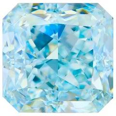 Emilio Jewelry GIA Certified 4.00 Carat Fancy Blue Diamond