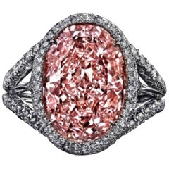 Emilio Jewelry GIA Certified 6.50 Carat Fancy Purple Pink Diamond Ring