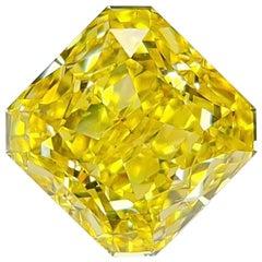 Emilio Jewelry GIA Certified 7.00 Carat Fancy Vivid Yellow Diamond