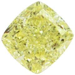 Emilio Jewelry GIA Certified 7.00 Carat Fancy Yellow Diamond