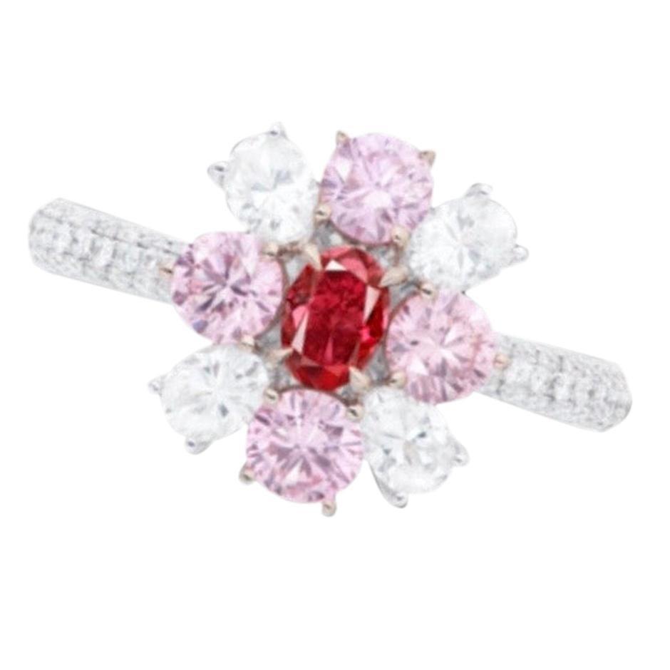 Emilio Jewelry GIA Certified Fancy Pure Red Diamond Ring