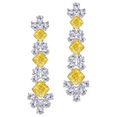 Emilio Jewelry GIA Certified Fancy Yellow Diamond Earring