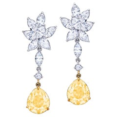 Emilio Jewelry GIA Certified Fancy Yellow Diamond Earrings