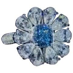 Emilio Jewelry GIA Certified Internally Flawless Blue Diamond Ring
