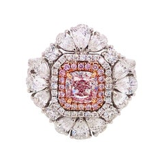 Emilio Jewelry GIA Certified Natural Fancy Pink Diamond Ring