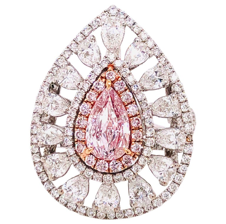 Emilio Jewelry GIA Certified Pink Diamond Ring For Sale