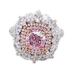 Emilio Jewelry Gia Certified Pure Light Pink Diamond Ring