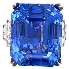 Emilio Jewelry Gubelin Certified 43.00 Carat Unheated Ceylon Sapphire Ring