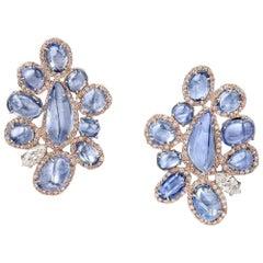 Emilio Jewelry Gubelin Certified No Heat Kashmir Sapphire Earrings