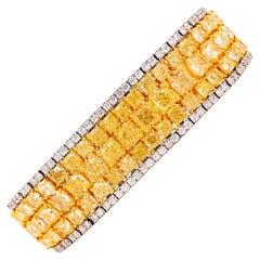Emilio Jewelry Natural 47 Carat Yellow Diamond Bracelet