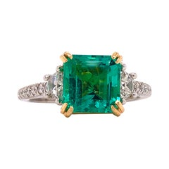 Emilio Jewelry No Oil Colombian Emerald Ring
