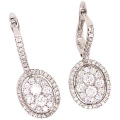 Emilio Jewelry Oval Diamond Earrings