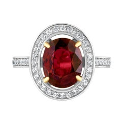 Emilio Jewelry Oval Ruby Diamond Ring