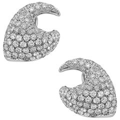 Emilio Jewelry Pave Diamond Earrings