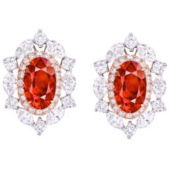 Emilio Jewelry Ruby Diamond Earrings