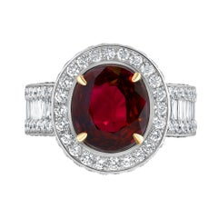 Emilio Jewelry Ruby Diamond Ring