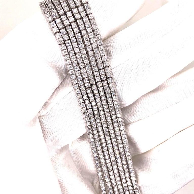 Emilio Jewelry Seven-Row 9.50 Carat Endless Diamond Bracelet For Sale 2