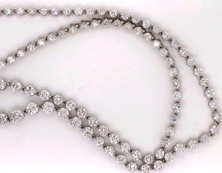 Emilio Jewelry Signature 10.35 Carat Graduating Diamond Riviera Necklace For Sale 5