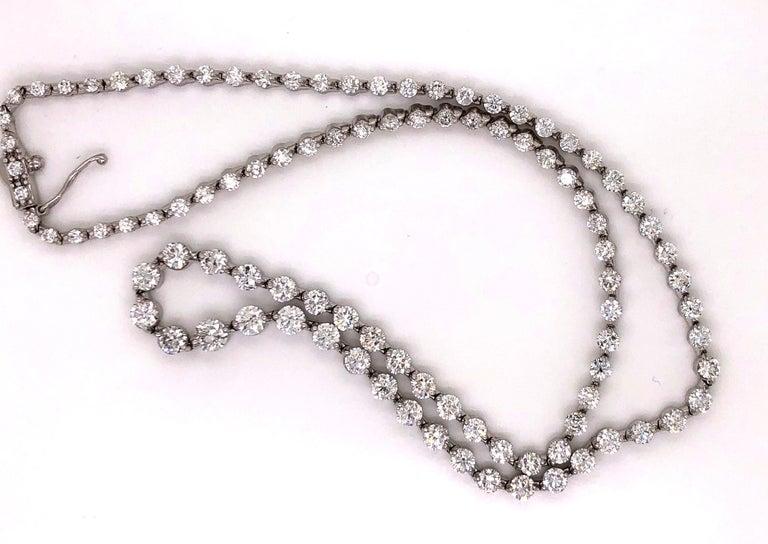Emilio Jewelry Signature 10.35 Carat Graduating Diamond Riviera Necklace For Sale 6