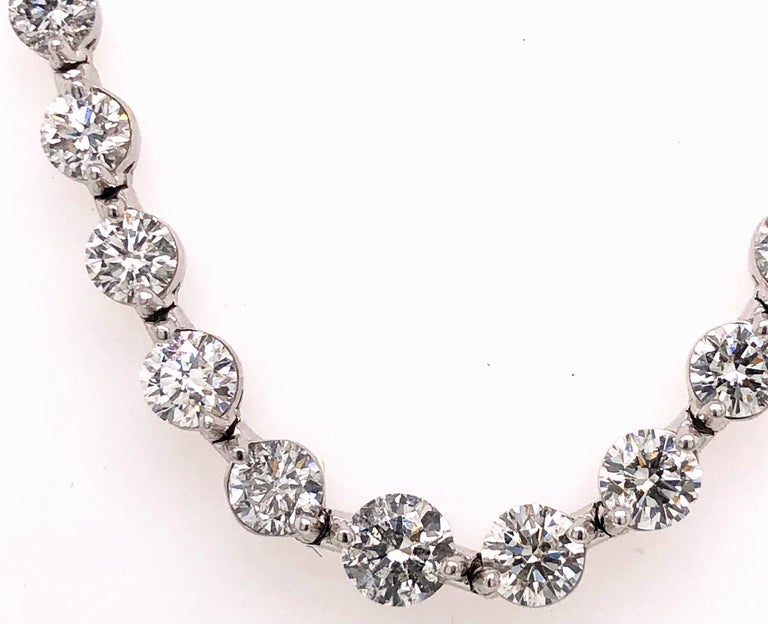 This lovely piece has been designed and manufactured in the Emilio Jewelry Atelier. Our brand is known for our perfection in jewelry making, and cherry picking the very best diamonds for our jewels.  Approx total weight: 10.35 Carats graduating