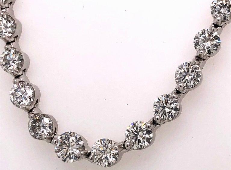 Emilio Jewelry Signature 10.35 Carat Graduating Diamond Riviera Necklace In New Condition For Sale In New York, NY