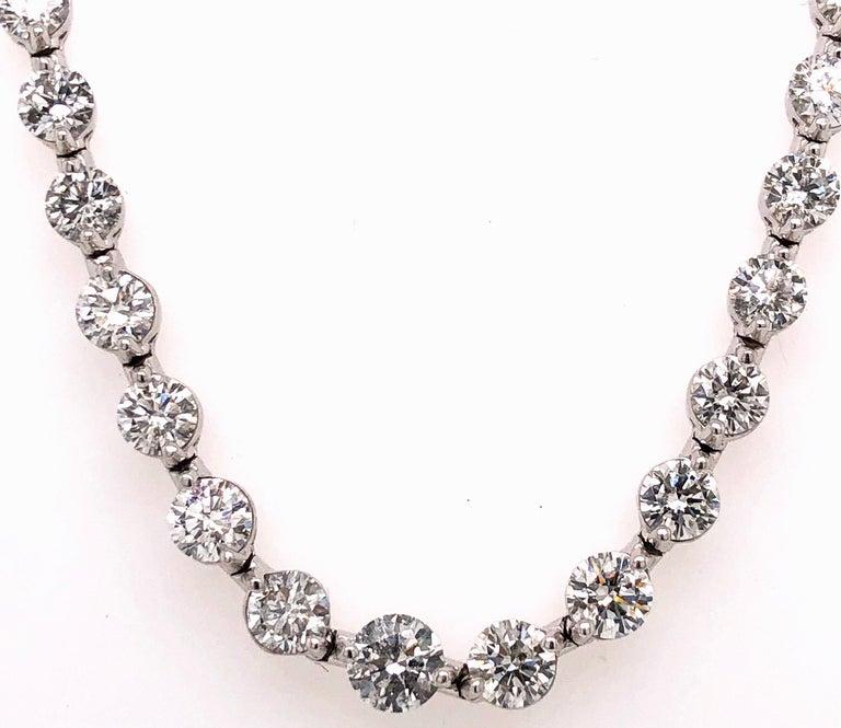 Women's Emilio Jewelry Signature 10.35 Carat Graduating Diamond Riviera Necklace For Sale
